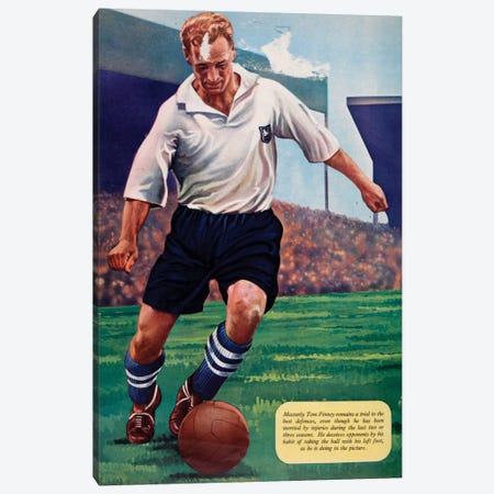 Tom Finney Canvas Print #HEM83} by Hemingway Design Canvas Art Print
