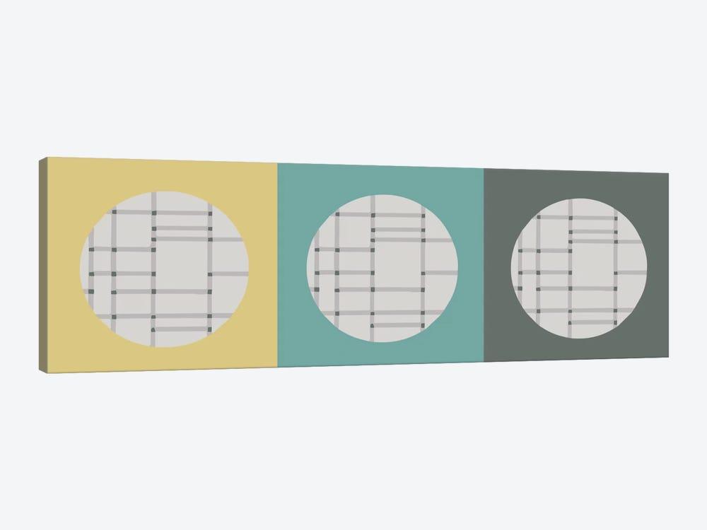 Triple Circle by Hemingway Design 1-piece Canvas Art Print