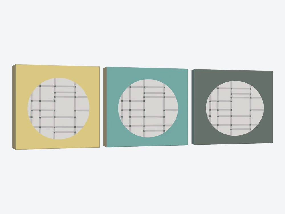Triple Circle by Hemingway Design 3-piece Canvas Art Print