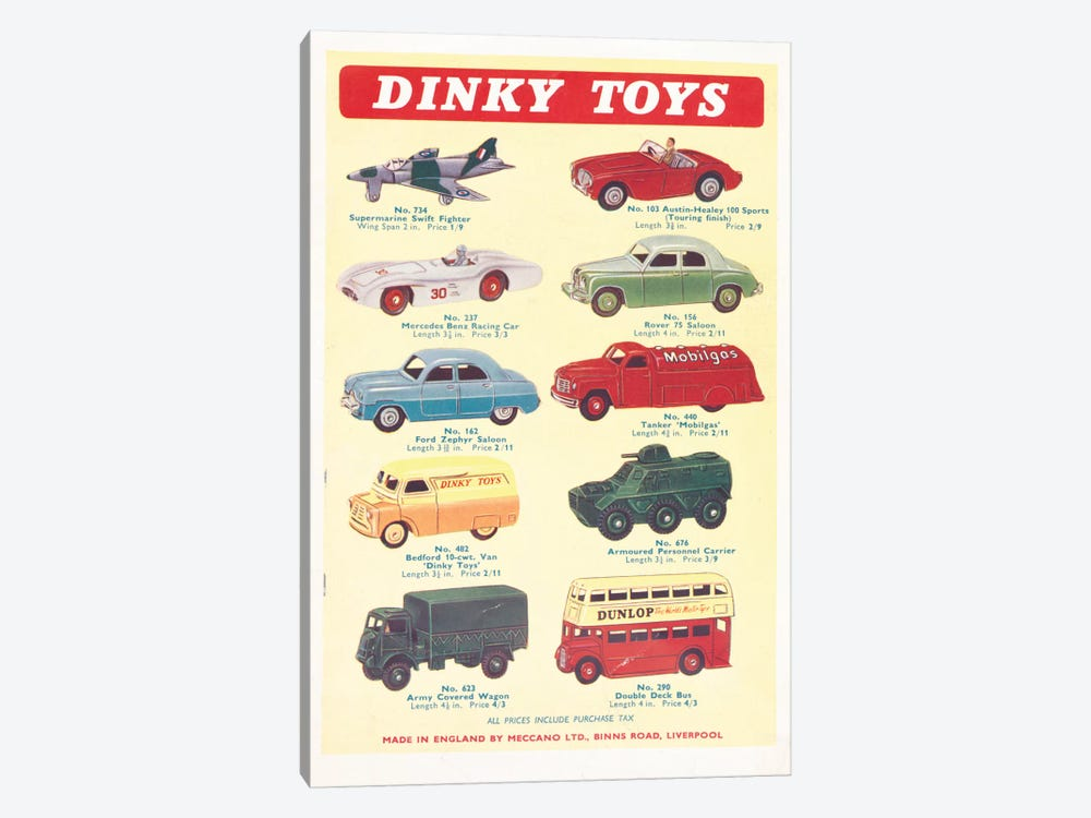 Vintage Vehicles by Hemingway Design 1-piece Canvas Wall Art