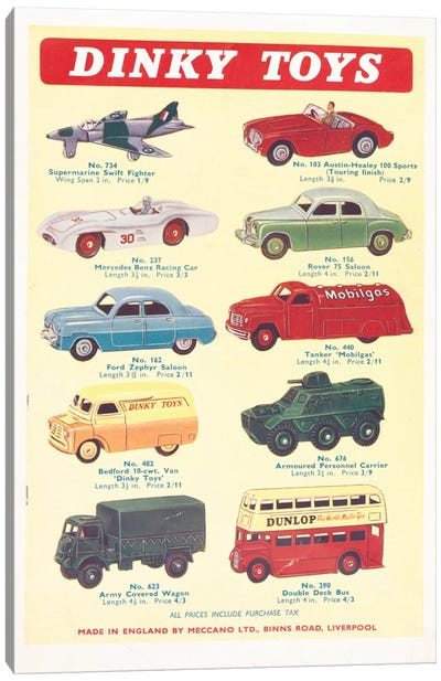 Vintage Vehicles Canvas Art Print