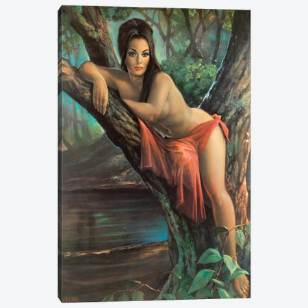 Woodland Goddess Canvas Print #HEM88} by Hemingway Design Canvas Art Print