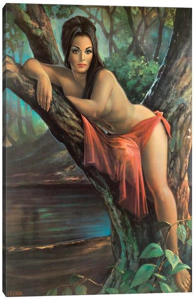 Woodland Goddess Canvas Art Print