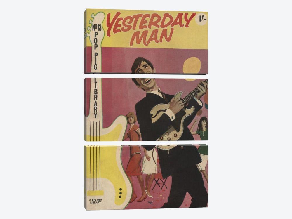 Yesterday Man by Hemingway Design 3-piece Canvas Wall Art