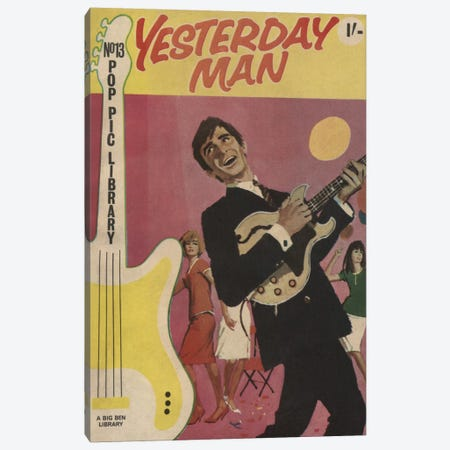 Yesterday Man Canvas Print #HEM89} by Hemingway Design Canvas Art Print