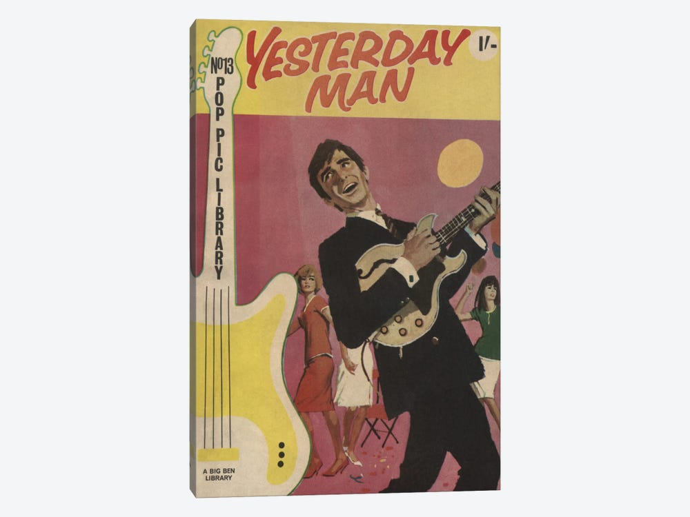 Yesterday Man by Hemingway Design 1-piece Canvas Art