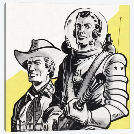 Astronauts And Cowboys Canvas Print #HEM8} by Hemingway Design Canvas Artwork