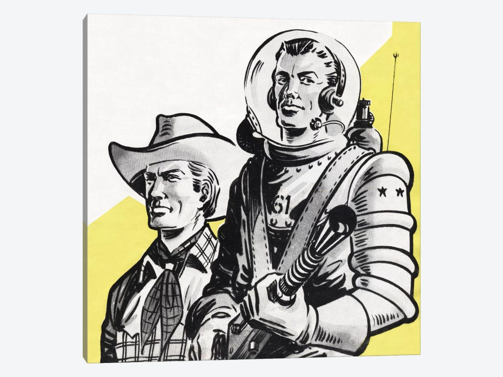Astronauts And Cowboys by Hemingway Design 1-piece Canvas Art Print
