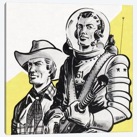 Astronauts And Cowboys Canvas Print #HEM8} by Hemingway Design Canvas Artwork