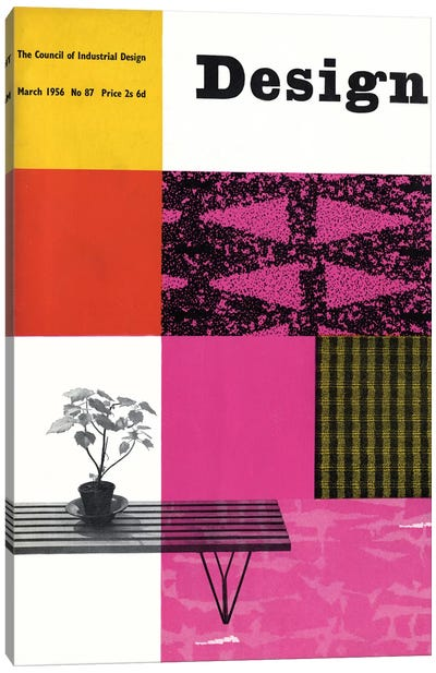 Design Magazine Cover Series: March 1956 Canvas Print #HEM92
