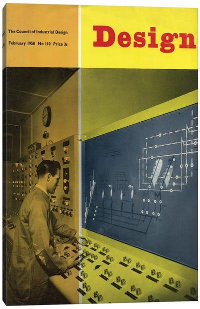Design Magazine Cover Series: February 1958 Canvas Print #HEM93