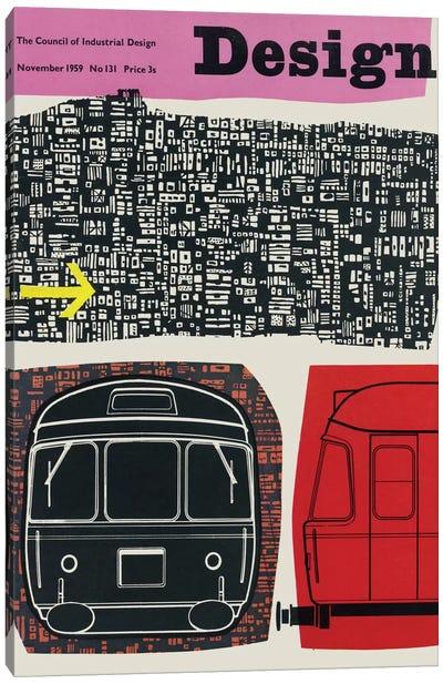 Design Magazine Cover Series: November 1958 Canvas Print #HEM94