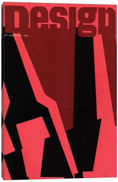 Design Magazine Cover Series: December 1967 Canvas Print #HEM95