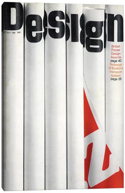 Design Magazine Cover Series: April 1968 Canvas Print #HEM96
