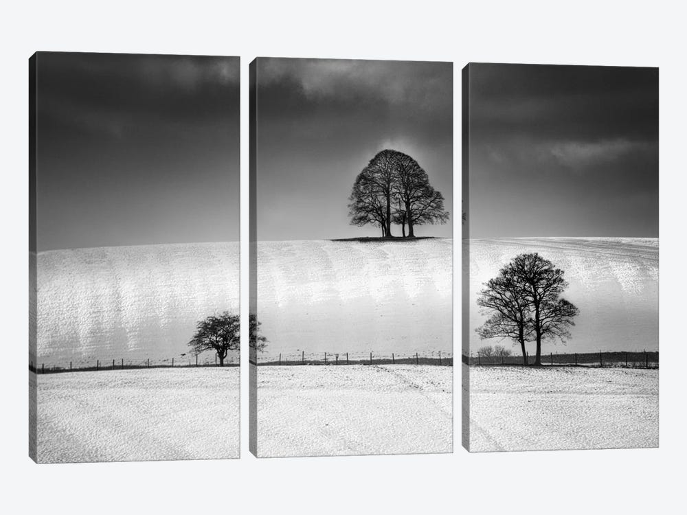 Winter Triangle by Martin Henson 3-piece Canvas Wall Art