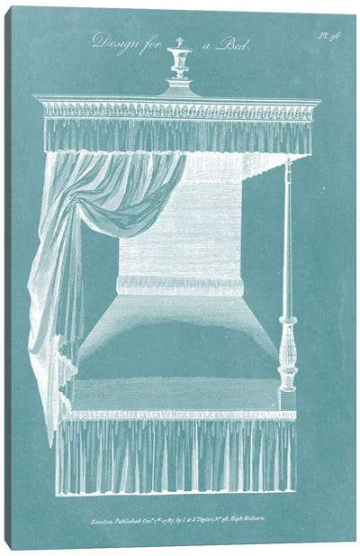 Design For A Bed IV Canvas Art Print