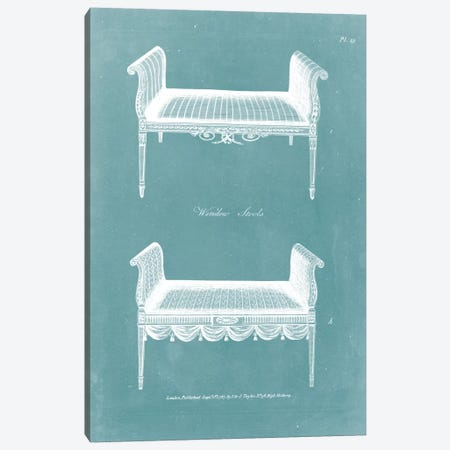 Design For A Window Seat I Canvas Print #HEP5} by George Hepplewhite Art Print