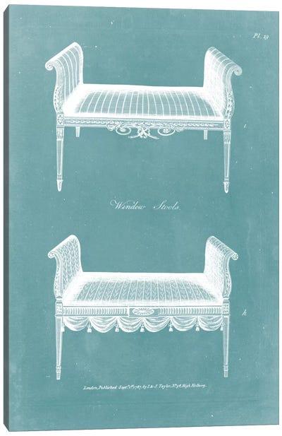Design For A Window Seat I Canvas Art Print