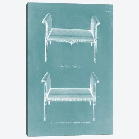 Design For A Window Seat II Canvas Print #HEP6} by George Hepplewhite Canvas Print