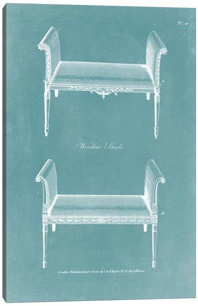 Design For A Window Seat II Canvas Art Print