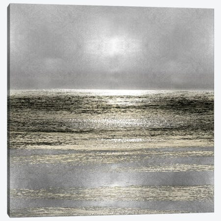 Silver Seascape I Canvas Print #HEW1} by Michelle Matthews Canvas Art Print