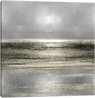 Silver Seascape I Canvas Art Print