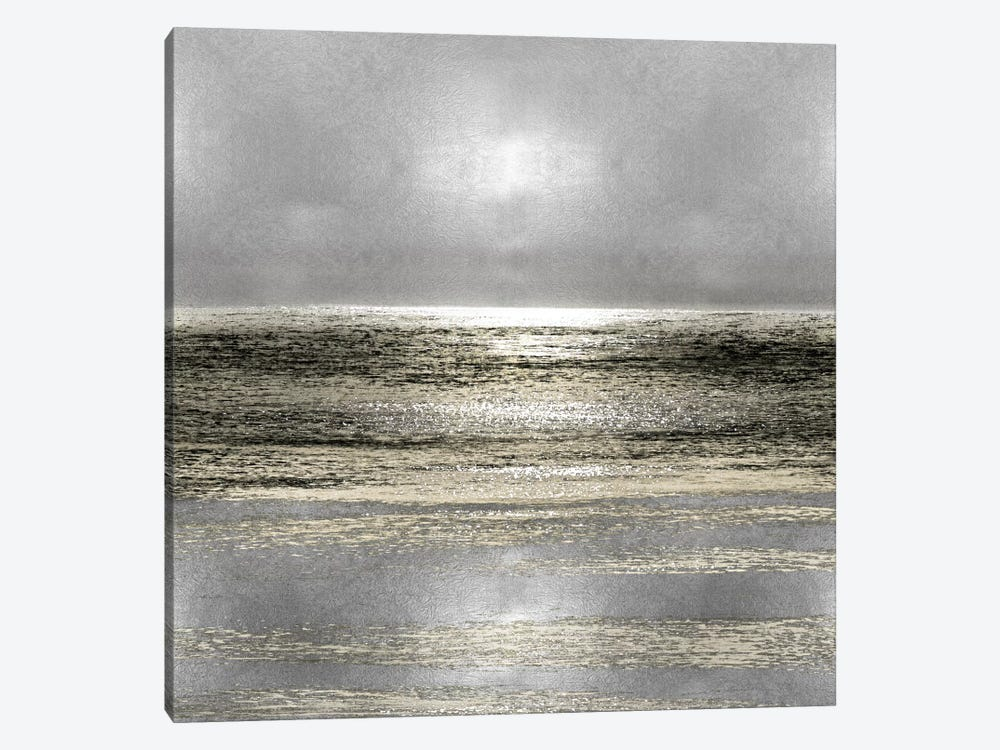 Silver Seascape I by Michelle Matthews 1-piece Canvas Artwork