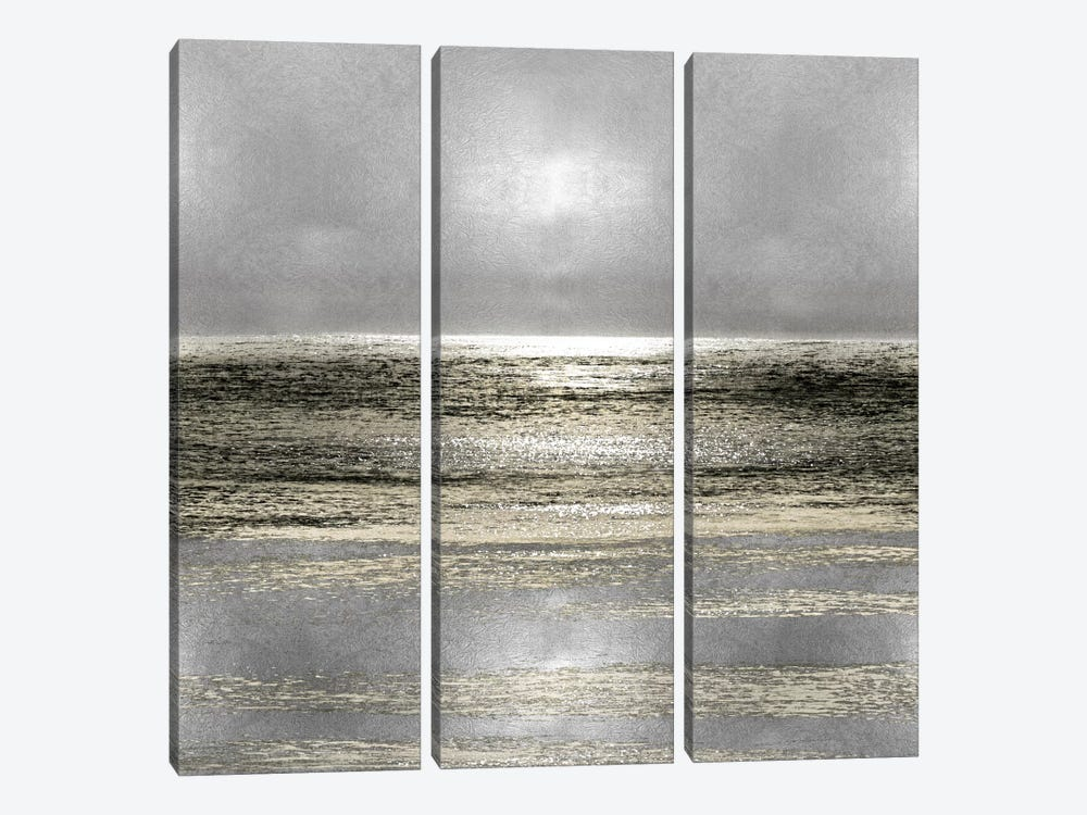 Silver Seascape I by Michelle Matthews 3-piece Canvas Art