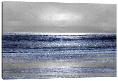 Silver Seascape II Canvas Art Print