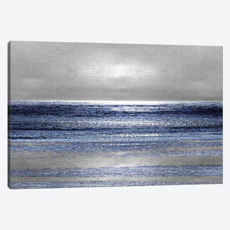 Silver Seascape II Canvas Print #HEW2} by Michelle Matthews Canvas Art Print
