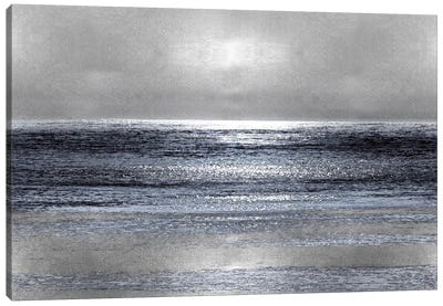 Silver Seascape III Canvas Art Print