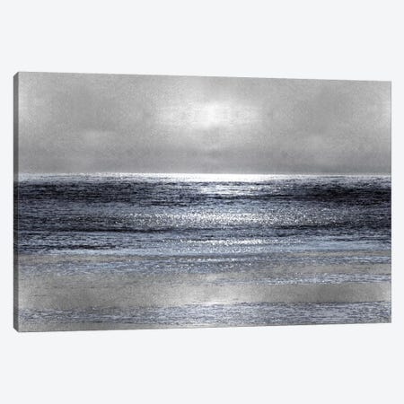 Silver Seascape III Canvas Print #HEW3} by Michelle Matthews Canvas Print