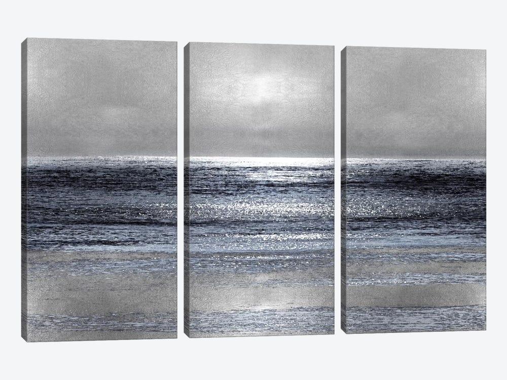 Silver Seascape III by Michelle Matthews 3-piece Canvas Artwork