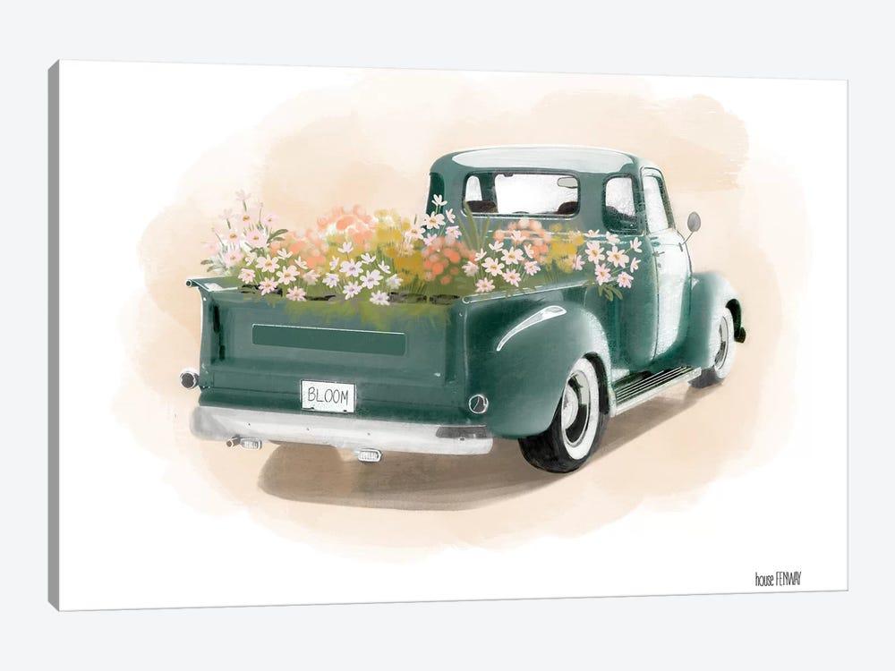 Flower Truck by House Fenway 1-piece Canvas Artwork