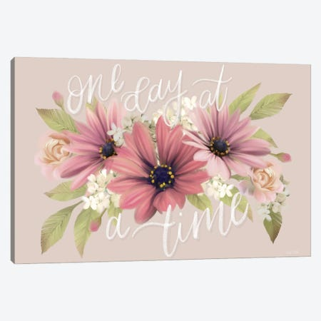 One Day At A Time Canvas Print #HFE120} by House Fenway Canvas Print