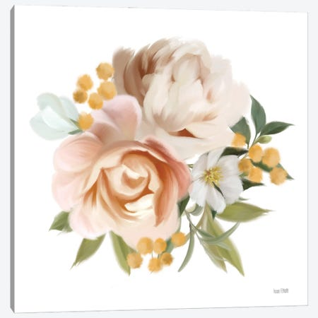 Peony Cluster Canvas Print #HFE124} by House Fenway Canvas Art