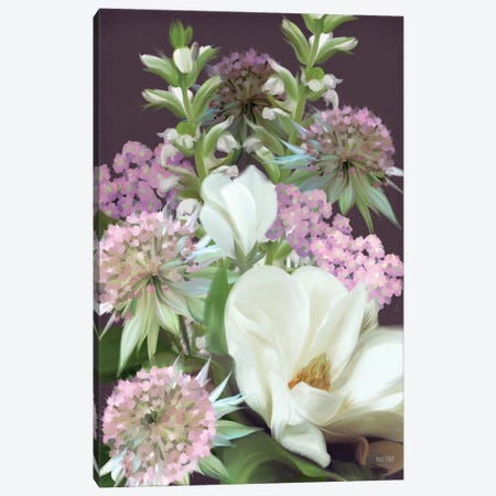 Wild For Plum Bouquet Canvas Print #HFE136} by House Fenway Art Print