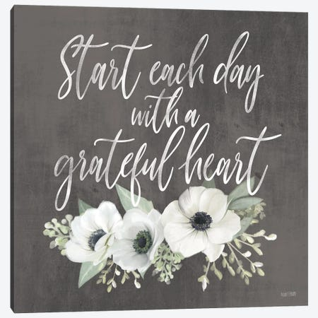 Grateful Heart Canvas Print #HFE146} by House Fenway Canvas Artwork