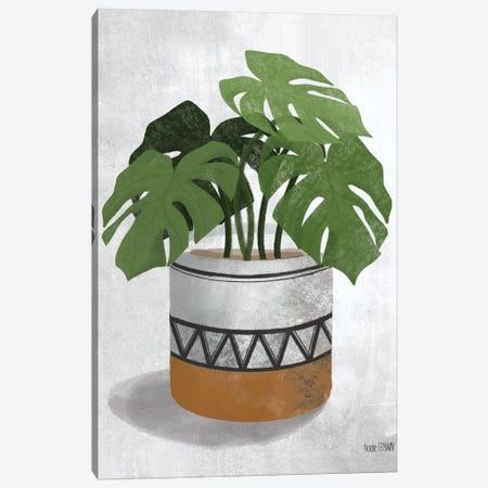 Monstera Plant Canvas Print #HFE15} by House Fenway Canvas Print