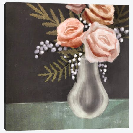 Pink Roses Canvas Print #HFE22} by House Fenway Canvas Print