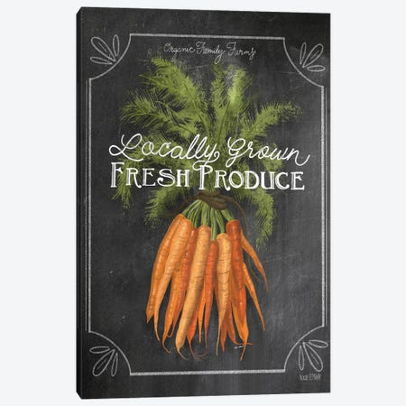 Fresh Carrots Canvas Print #HFE26} by House Fenway Canvas Wall Art