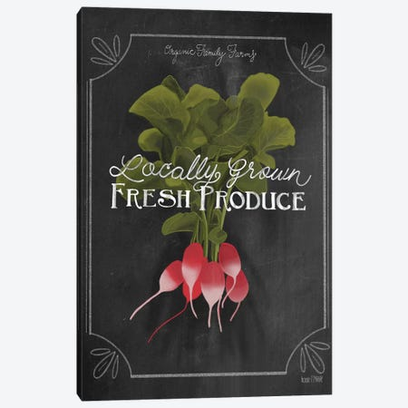 Fresh Radishes Canvas Print #HFE27} by House Fenway Canvas Wall Art