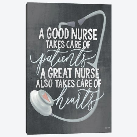 A Nurse's Heart Canvas Print #HFE29} by House Fenway Canvas Print