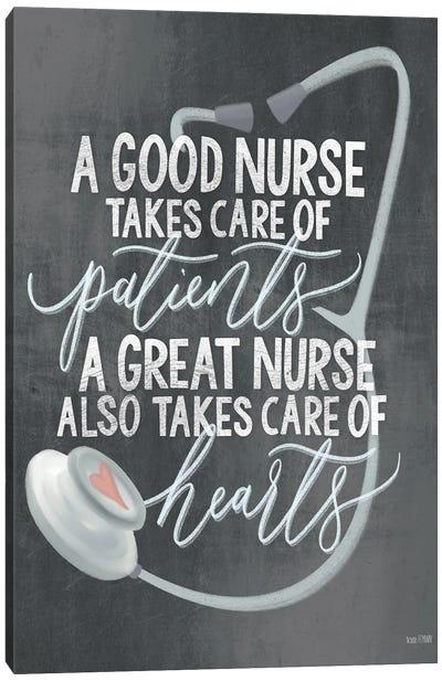 A Nurse's Heart Canvas Art Print
