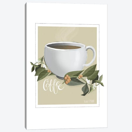 Botanical Coffee Canvas Print #HFE2} by House Fenway Art Print