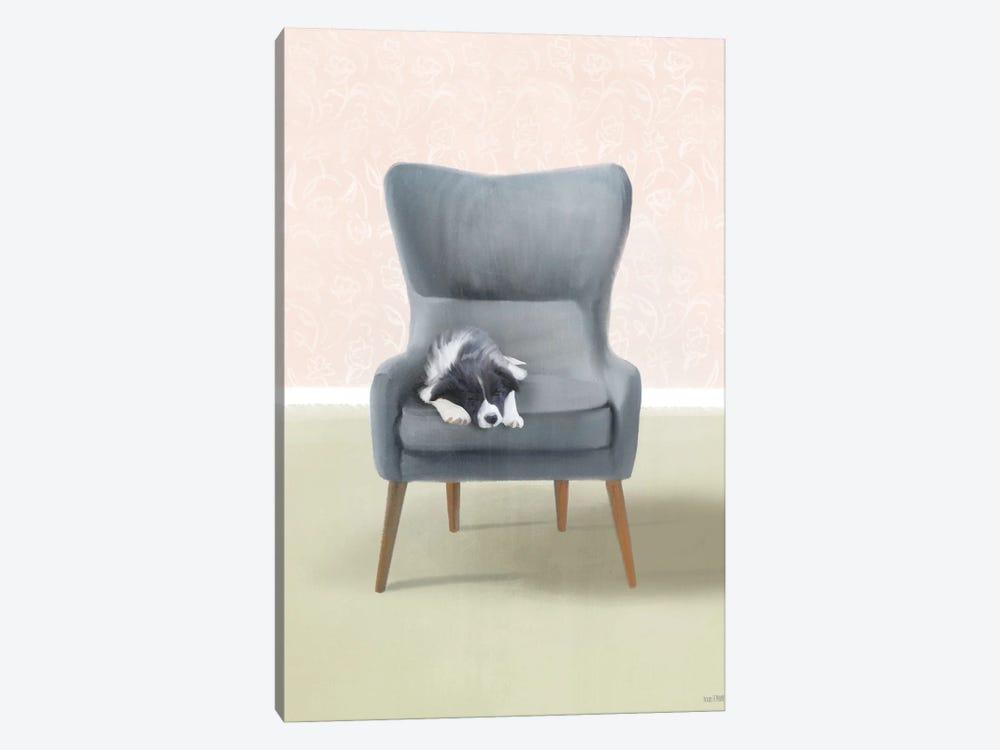 Nap Time Collie Pup by House Fenway 1-piece Canvas Art Print