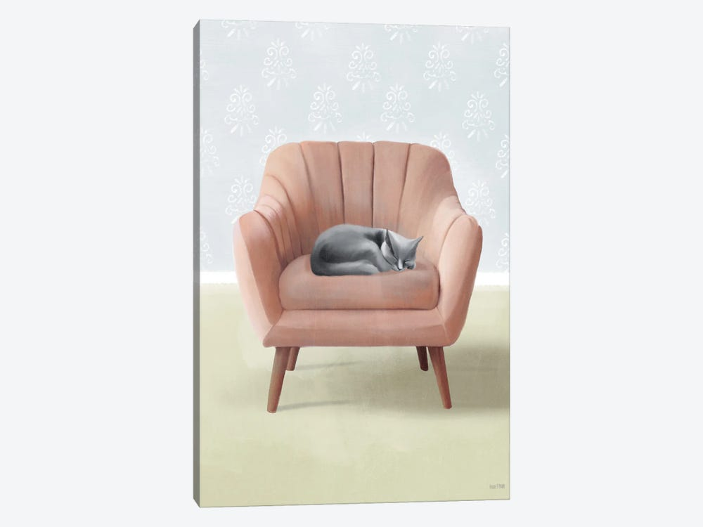 Nap Time Gray Cat by House Fenway 1-piece Canvas Art Print