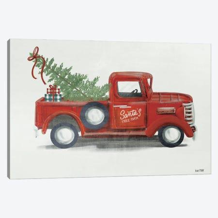 Santa's Tree Farm Canvas Print #HFE37} by House Fenway Canvas Art Print