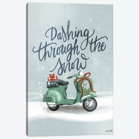 Snow Scooter Canvas Print #HFE38} by House Fenway Canvas Art