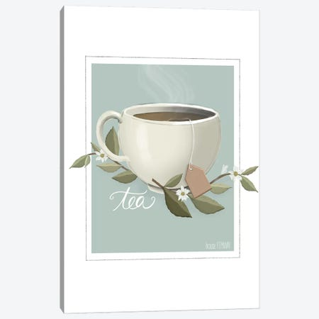 Botanical Tea Canvas Print #HFE3} by House Fenway Canvas Print